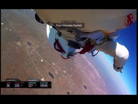 New footage of Felix Baumgartner edge of space jump gopro 1080
